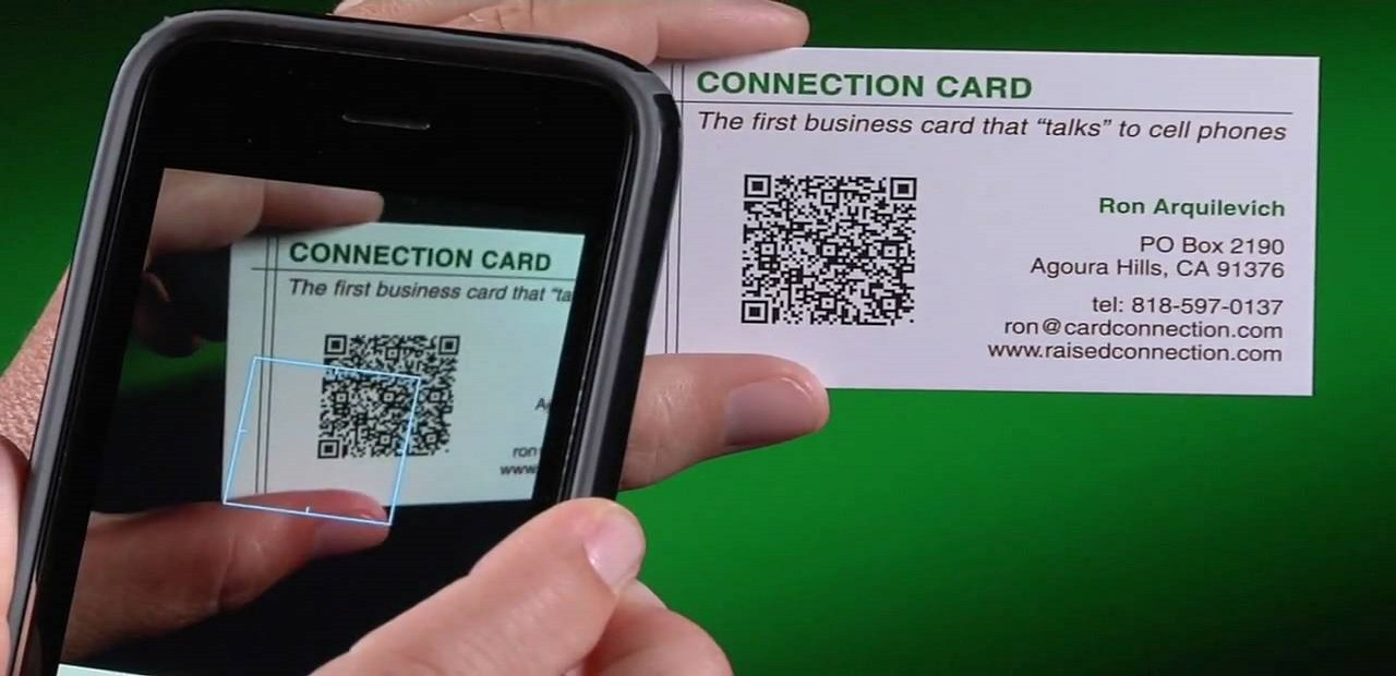 What are business cards with QR code